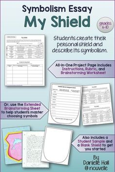 teaching symbolism in literature objects colors symbolism essay and project personal shield