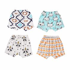 Kids  Boys Casual Shorts Infant Pure Cotton Shorts Children Summer Harem Short Pants Baby Bloomers Clothing Loose Trousers