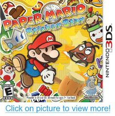 Nintendo's classic Paper Mario franchise gets a fresh look in its hand-held debut. Stickers are the backbone of Mario's newest adventure in which players use stickers found in the game to not only win battles, but to solve puzzles as well. Xbox 360, Playstation, Paper Mario Sticker Star, Nintendo Ds, Nintendo Switch, Nintendo Games, Wii Games, Game Boy, Mario 3ds