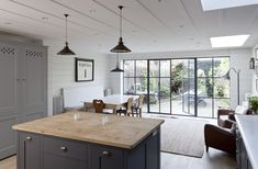Kitchen with crittal doors to terrace. Just what I want.