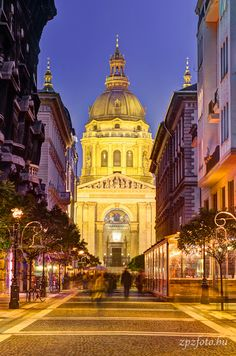 Stephen Basilica and Zrínyi street, Budapest, Hungary Places In Europe, Oh The Places You'll Go, Beautiful Buildings, Beautiful Places, Cruise Europe, Hungary Travel, Heart Of Europe, Destinations, Central Europe