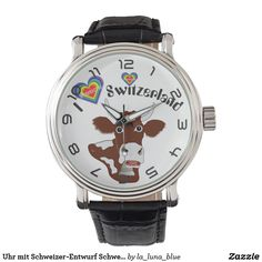 Uhr mit Schweizer-Entwurf Schweiz Suisse die Schwe