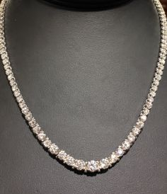 Diamond tennis necklace! It may be snowing and cold outside, but there is always HOT ICE at FMJ!!!