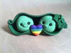 Two Peas in a Pod Wedding Cake Topper by theaircastle on Etsy, $120.00