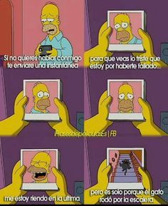 Jajajaja Simpsons Frases, Simpsons Quotes, The Simpsons, Sad Pictures, Reaction Pictures, I Hate My Life, Frases Tumblr, Cat Memes, Funny Moments