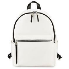 French Connection Perry Faux Leather Backpack ($50) ❤ liked on Polyvore featuring bags and backpacks