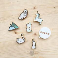 Origami accessories jewellery Hug a porcupine