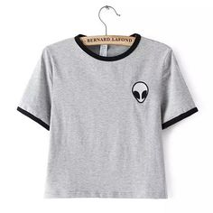 ce99e12fece Printed Design Aliens T Shirts Women Short Sleeve Tee Shirt Cotton  Comfortable Female Students T-shirts Teenagers