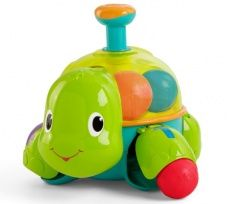 Part of the Having a Ball Collection, the Bright Starts Having a Ball Drop 'n Spin Turtle is a ball of fun for your little one. Load the balls into the turtle's shell, push the plunger down, and watch the balls as they spin to fun melodies. Baby Activity Toys, Infant Activities, Little Tikes, Kids Store, Toy Store, All Toys, Baby Play, Toddler Toys, Piggy Bank