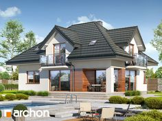 Dom w śliwach 2 Home Interior, Decor Interior Design, Interior Decorating, Village House Design, Village Houses, House Roof, Facade House, Beautiful House Plans, Beautiful Homes