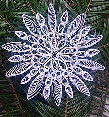 Dekorácie - Vianočná hviezda biela - 6095648_