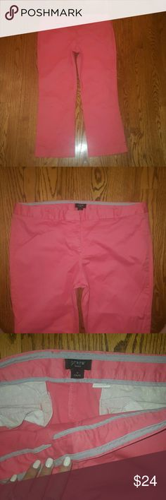 J.Crew coral summer ankle pants size 12 Fun summer J.Crew coral ankle pants. Size 12, city fit. In excellent condition!! Bundle and save. J. Crew Pants Ankle & Cropped