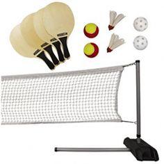 Lifetime Pickleball, Badminton, & Quickstart Tennis Net Set The Lifetime Driveway 3 Sport Set is perfect for Pickleball, QuickStart Tennis, Badminton and Best Badminton Racket, Tennis Nets, Wooden Paddle, Sports Complex, Backyard Play, Racquet Sports, Outdoor Games, Sport Outdoor, Tennis