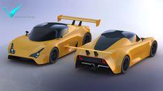 500 Group Supercar (road) - STL, STEP / IGES, SOLIDWORKS - 3D CAD model - GrabCAD