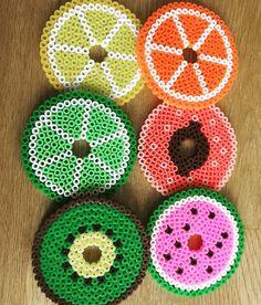 Fruit glass covers hama beads by zandrizzey