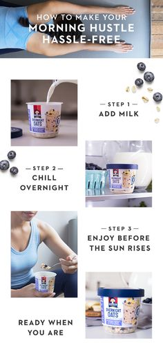 A breakfast choice fit for fitness buffs! Quaker® Overnight Oats are made with 100% whole grains and no added colors or artificial flavors so you can hustle your hardest. Simply add prep to your nighttime routine and a hassle-free breakfast experience wil