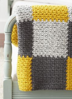 Easy Patchwork Blanket — think the master will be gray white and yellow.....