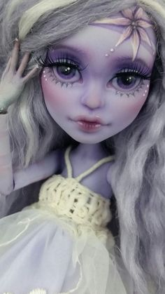 Custom Monster High Lagoona Blue Doll OOAK Repaint by Skeriosties by skeriosities on Etsy