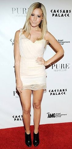 Ashley Tisdale Style and Fashion - Foley + Corinna Belle Du Jour Cocktail Dress on Celebrity Style Guide