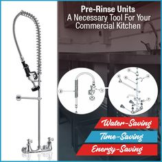 ... Food Court Or Cafeteria. They Have A High Arc Spout And Powerful  Sprayer To Help Blast Away Grimy Food From The Entire Cutlery. At  Kitchenrama, You ...