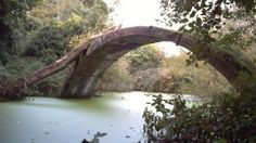 A folly bridge in Worcestershire England, believed to be designed by Capability Brown