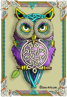 Celtic Owl Wallpaper...By Artist Unknown...