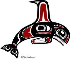 haida art orca - Google Search