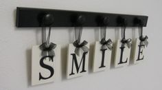 SMILE Shabby Chic Cottage Sign Home Decor Wood by NelsonsGifts, $25.00