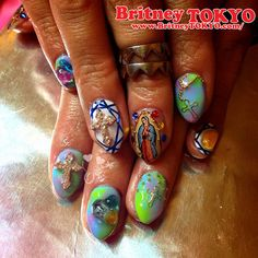 Power gemstones Nail ArtbyBritney TOKYO☆ ✌ ✿ ✡ ✟ ☺ ✞ TOKYO meets Hollywood ✞ ☺ ✟ ✡ ✿✌