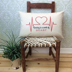 Hey, I found this really awesome Etsy listing at https://www.etsy.com/listing/269861492/nursing-is-a-work-of-heart-pillow