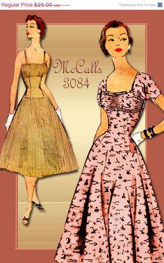 SALE 1950s Dress Pattern McCalls 3084 Vintage by FloradoraPresents,