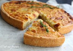 Tartes salées Home Inspiration home design inspiration Healthy Meals To Cook, Healthy Comfort Food, My Recipes, Fish Recipes, Favorite Recipes, Quiches, Food In French, Chefs, Veggie Muffins