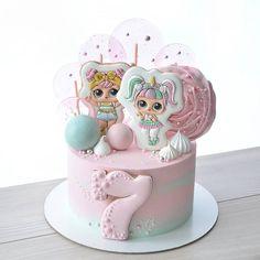 Doll Birthday Cake, Twin Birthday Cakes, Funny Birthday Cakes, Birthday Cakes For Women, Birthday Cards, Girly Cakes, Cute Cakes, Yummy Cakes, Soy Luna Cake