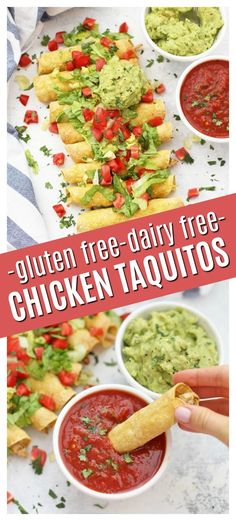 the guacamole! These baked chicken taquitos are amazing! - Baked Chicken Taquitos – Homemade taquitos are so easy! We love these crispy, crunchy chicken taq -Pass the guacamole! These baked chicken taquitos are amazing!