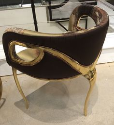 Koket Chandra Chair in #brass #polished #watercolor #modern #hpmkt #hpmktss Suites At Market Square 1-803