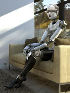 Cyberpunk, Future, Futuristic, Andrid, Female Bot, Robots and stuff (but mostly robots)