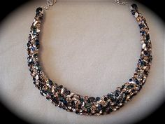 Midnight Blue  Silver Swarovski Bridal Statement by TheCrystalRose, $235.00