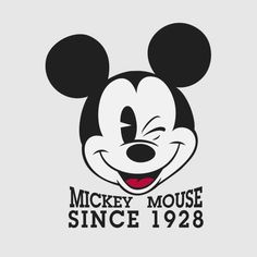 Disney Mickey Mouse Since 1928 Women& T-Shirt - Grey - XS - Grey-female Mickey Mouse Quotes, Mickey Mouse Characters, Mickey Mouse Shirts, Mickey Mouse And Friends, Disney Mickey Mouse, Mickey Mouse Classroom, Disney Classroom, Disney Style, Disney Love