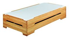 BioKinder 22633 Kai Spar Set Stapelbett aus Massivholz Erle 90 x 200 cm 2 Stück