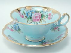 Foley Vintage Fine Bone China Tea Cup and by TheVintageFind1