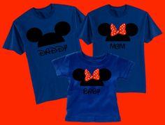 Disney Mickey/Minnie Ears Family Vacation T-Shirts (Family of 10)