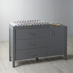 Uptown Wide Changing Table (Grey)  | The Land of Nod