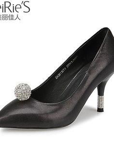X&D Damenschuhe - High Heels - Büro / Lässig - Schafspelz - Stöckelabsatz - Absätze / Spitzschuh / Geschlossene Zehe - Schwarz / Blau / Rosa - http://on-line-kaufen.de/tba/x-d-damenschuhe-high-heels-buero-laessig-absaetze-4