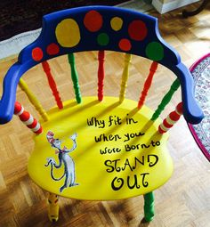 Dr. Seuss chair for classroom