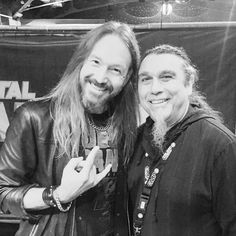"""There are legends and there are LEGENDS! #tomaraya #slayer #joacimcans #hammerfall_official #metalhammerawards #berlin"""