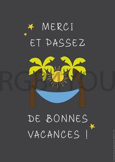Affiche Passez de bonnes vacances - a télécharger