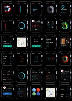 [Ressource] – Le plus complet des GUI Psd pour l'Apple Watch