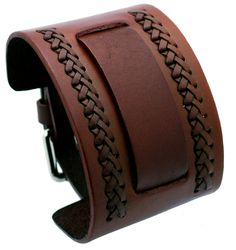 Nemesis NW-B Brown Wide Leather Cuff Wrist Watch Band: Watches: Amazon.com