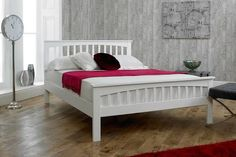 4ft white bed frame