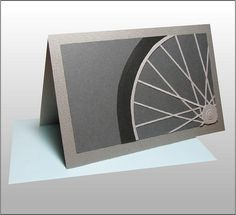 Bicycle Pop-up Card - the outside